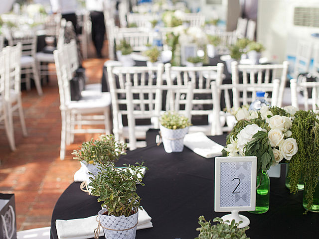table decorated with green themes