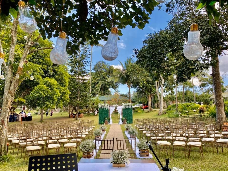 wedding solemnisation garden party setup