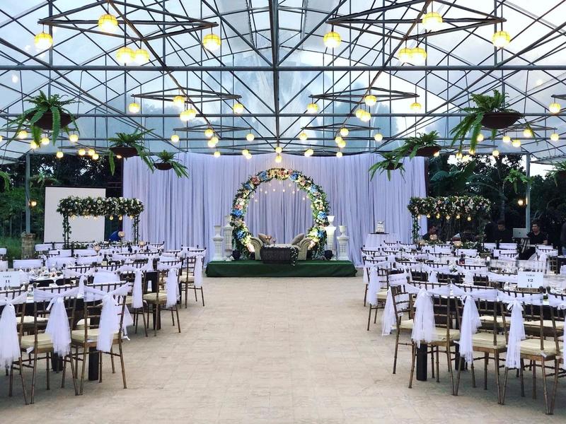 wedding solemnisation event with stage decoration