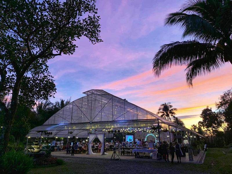 the exterior look of hacienda solange inc during sunset
