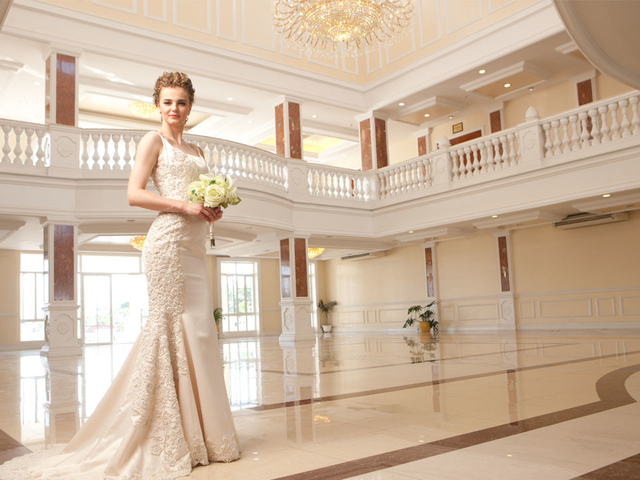 philippines large wedding hall with white interior and high ceiling