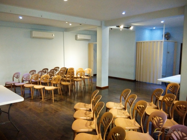 chairs lined up in function room