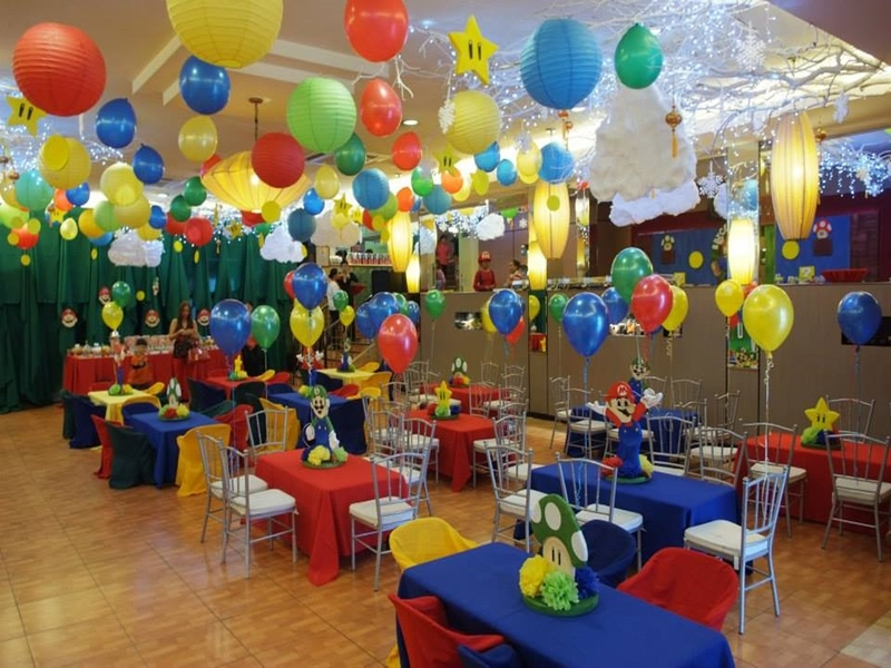 colourful balloons decoration for birthday party