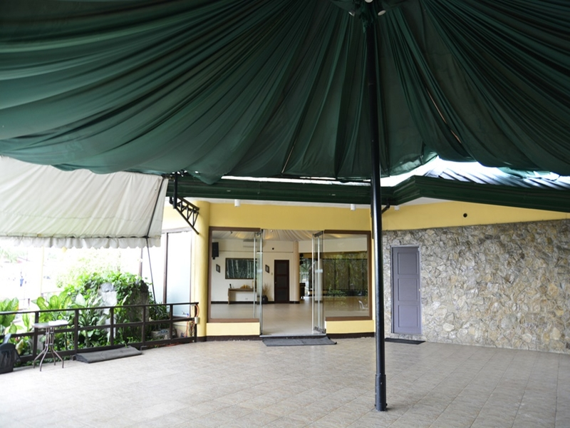 birthday space in pasay with round green tent