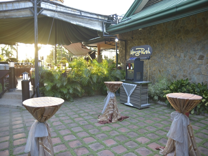 several cocktail tables in pasay large outdoor event venue