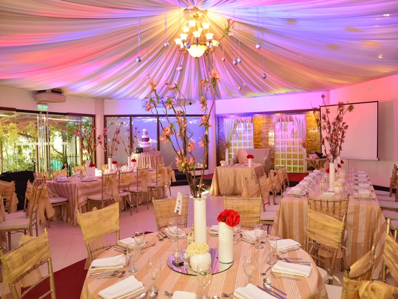party space with round shaped and banquet seating in philippines