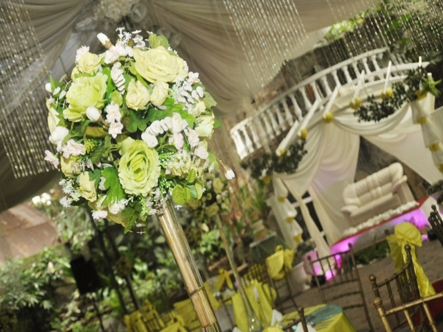 wedding hall decorated with flowers