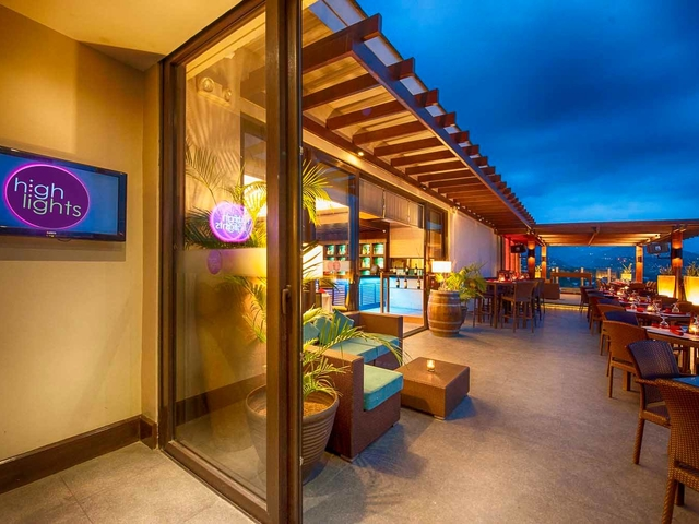 hotel's rooftop area with breathtaking views of cebu city