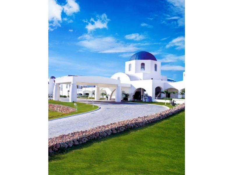 philippines large resort with white interior and garden area