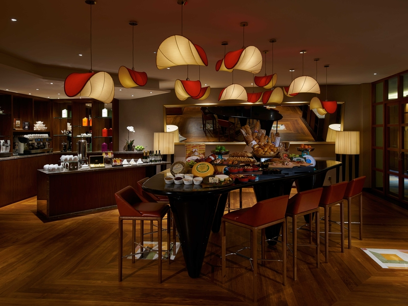 warm ambience christmas party place with wooden floors