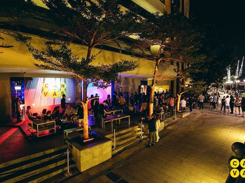 private party at the outdoor alfresco area