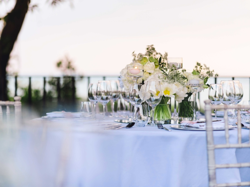 dining table in singapore sea view wedding venue