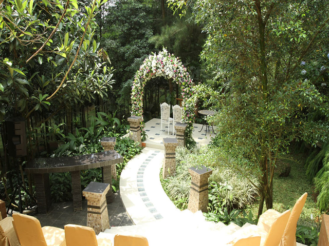 the michael resort cool outdoor wedding venue bogor