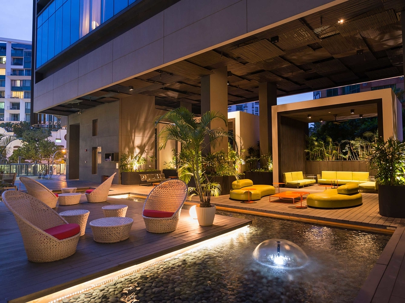 singapore hotel with outdoor event area and mini pool