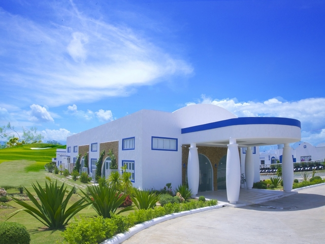 large garden and white interior building in philippines event venue