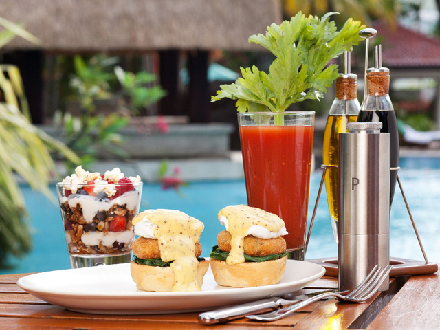 seafood terrace restaurant with pool central jakarta