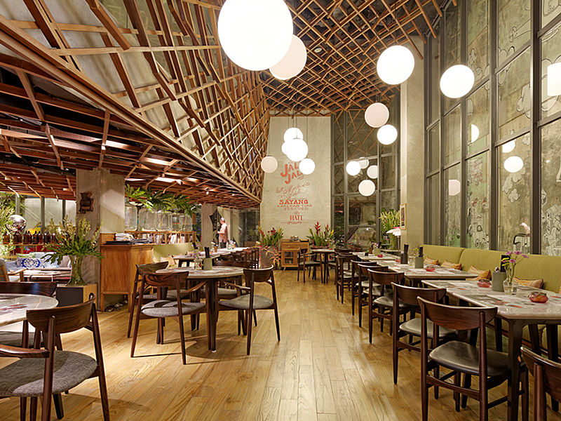 Beautifully decorated event space at Waha Kitchen