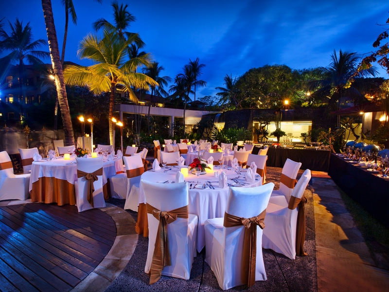 the laguna a luxury collection resort spa bali outdoor dinner dance event space