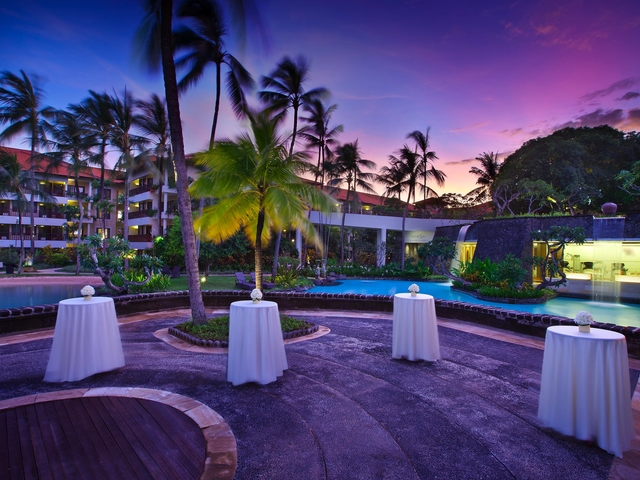 the laguna a luxury collection resort spa bali outdoor christmas party space