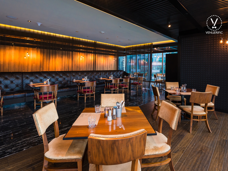 elegant gastro bar for business luncheon