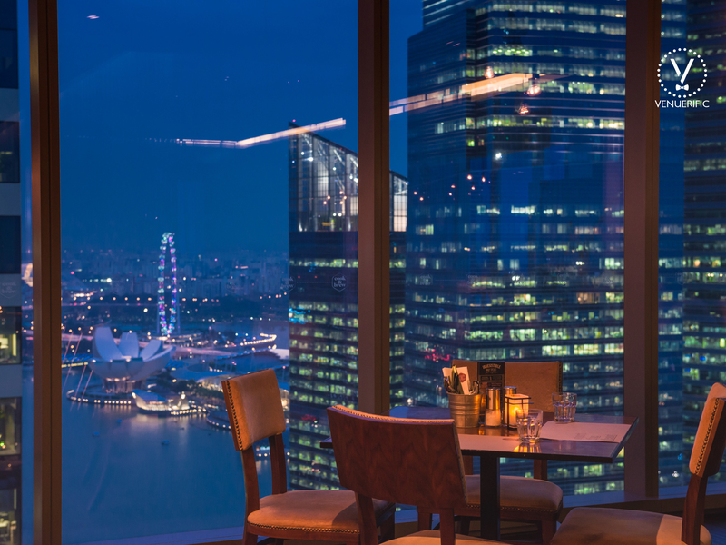 dining spot with stunning view of city skyline
