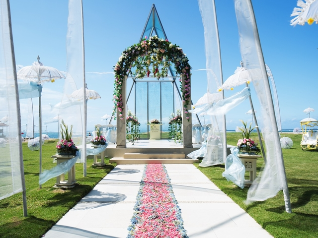 grand mirage resort and thalasso bali ballroom chapel wedding beach wedding rama stage best place to say i do bali