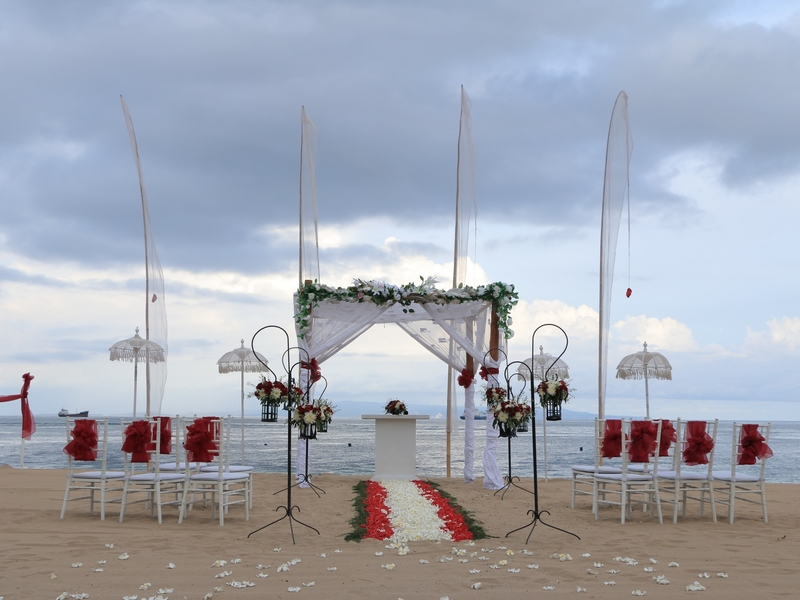 grand mirage resort and thalasso bali ballroom chapel wedding beach wedding rama stage where to surprise your girlfriend bali