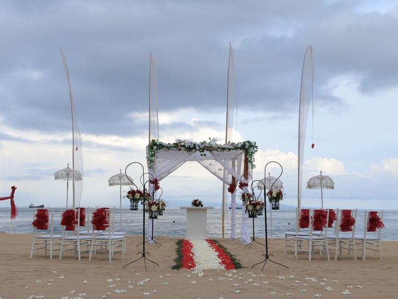 grand mirage resort and thalasso bali ballroom chapel wedding beach wedding rama stage where to surprise your girlfriend bali