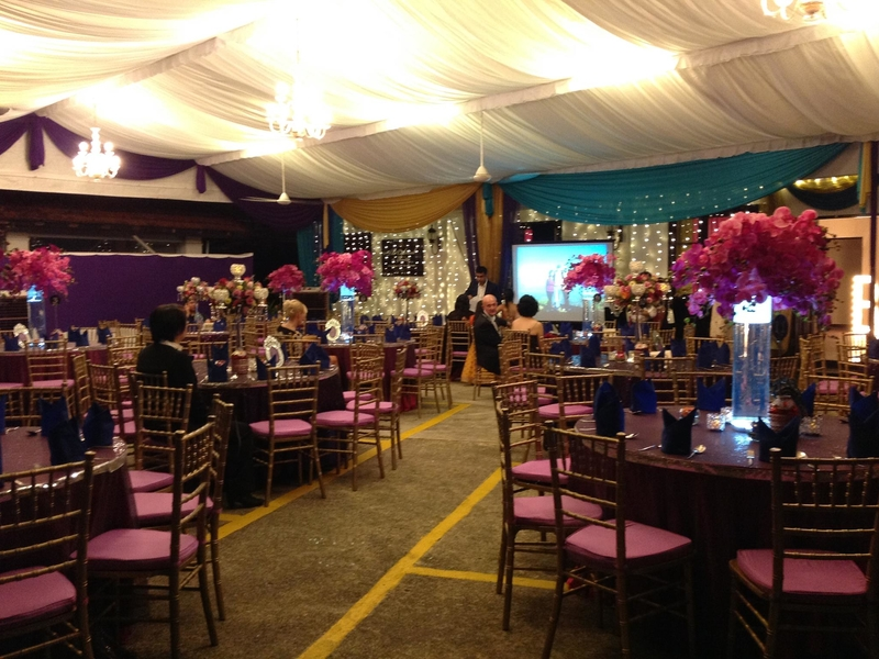 private wedding party with purple theme