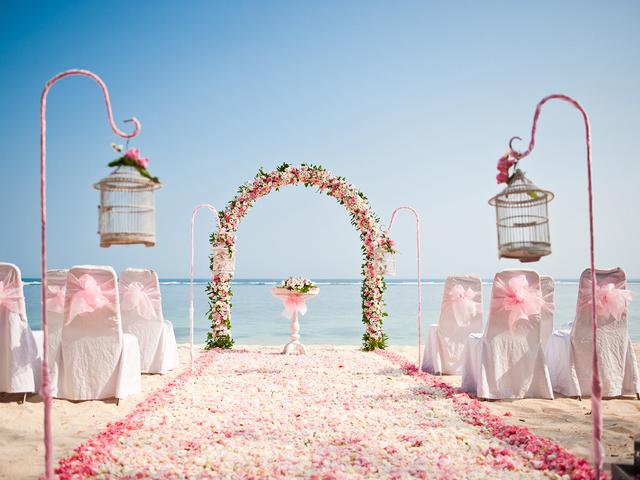 samabe bali suites villas wedding by the beach