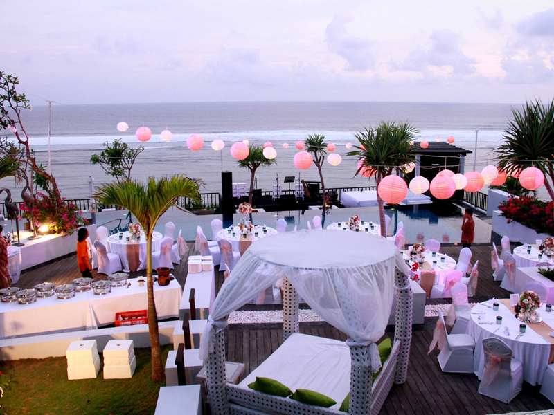 samabe bali suites villas outdoor space for party