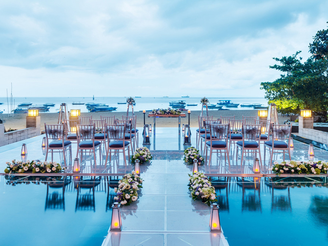 mantra sakala resort beach club wedding by the pool venue bali