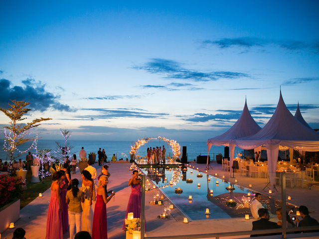 villa anugrah outdoor wedding event space bali