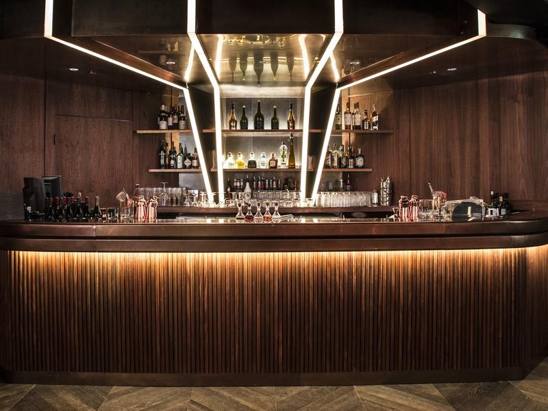 bar setup in studio bar lounge
