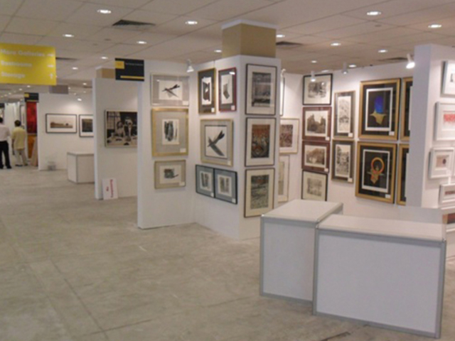 gallery with photos and frame