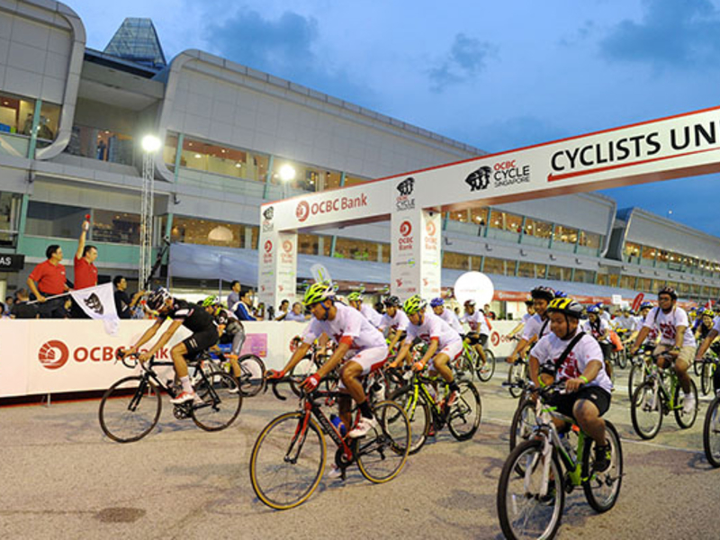cycling event start