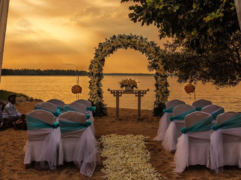 the oberoi beach resort lombok sunset beach wedding