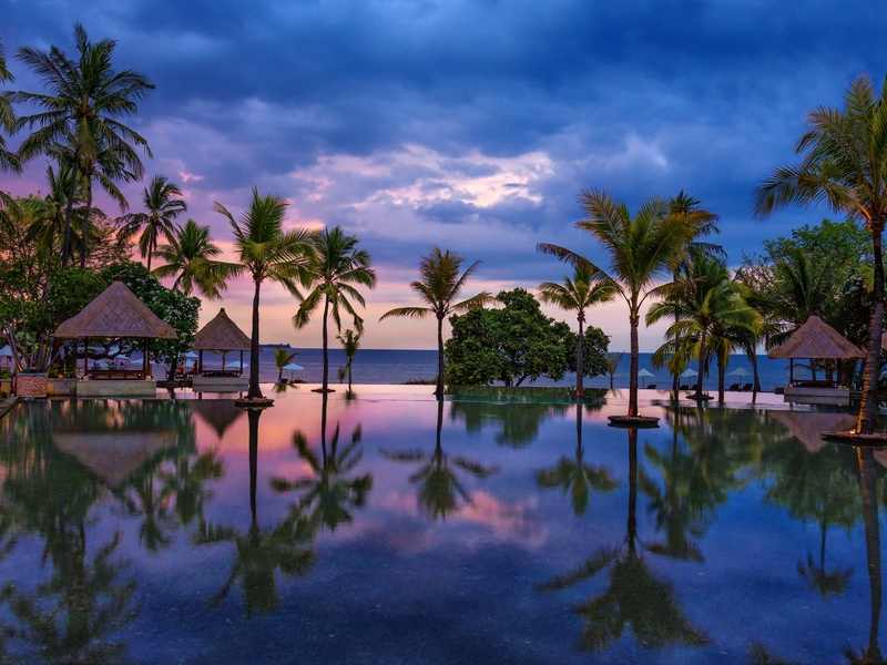 the oberoi beach resort lombok best place to see sunset