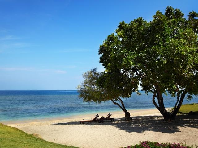 the oberoi beach resort lombok villa with hidden beach