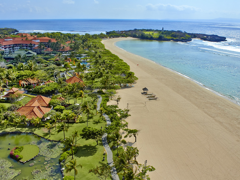 grand hyatt bali hotel with beautiful beach bali