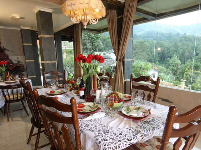 the michael house beautiful christmas dinner place bogor