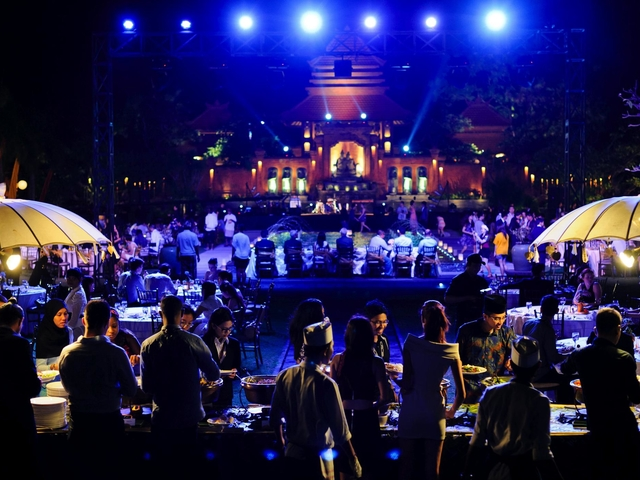 taman bhagawan bali outdoor live music space
