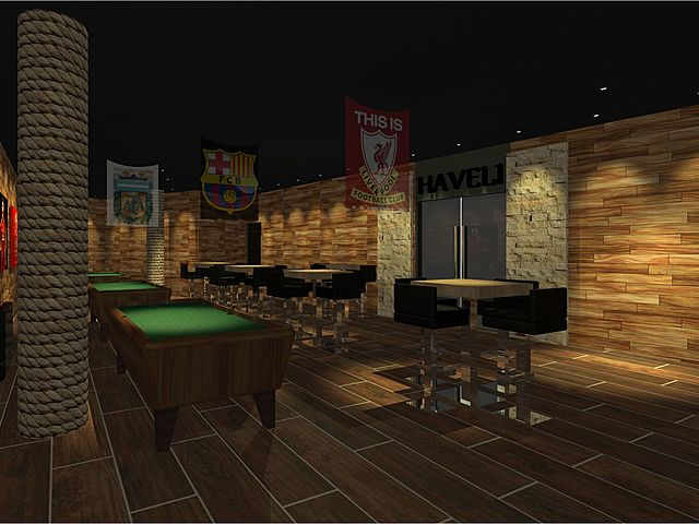 private room area for billiard