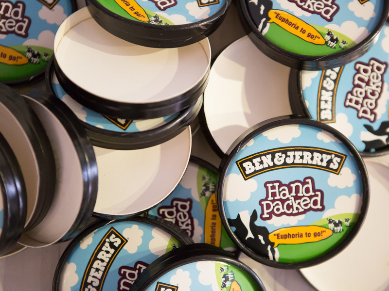 ben and jerry's hand package