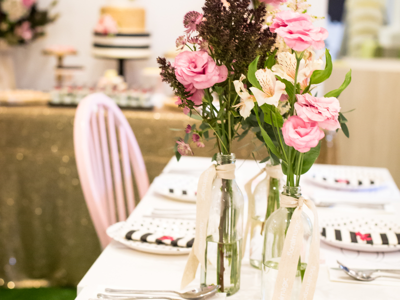 table decoration with flower