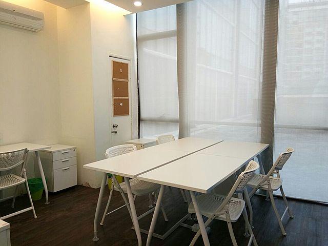 meeting room setup for 4 people
