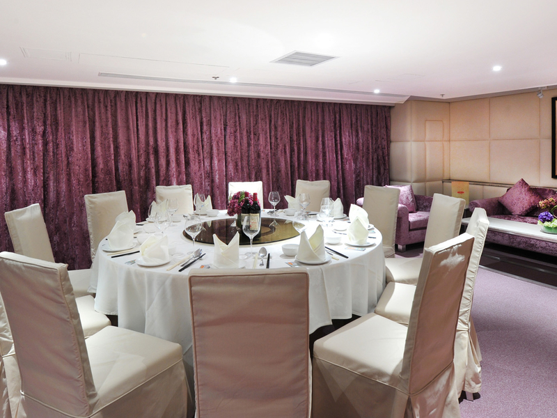 round table dining setting at the function room