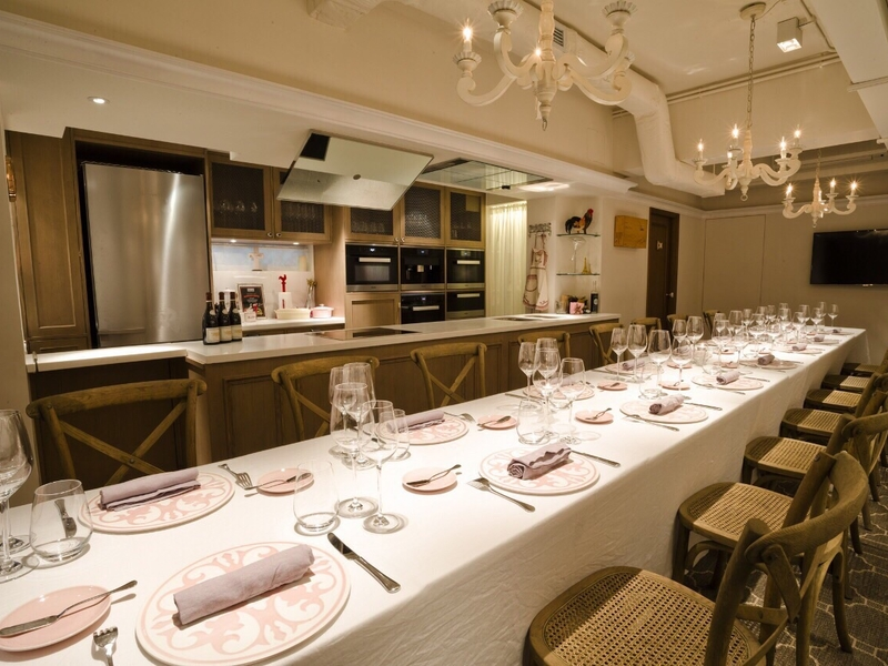 fine dining setup for private event in ta pantry
