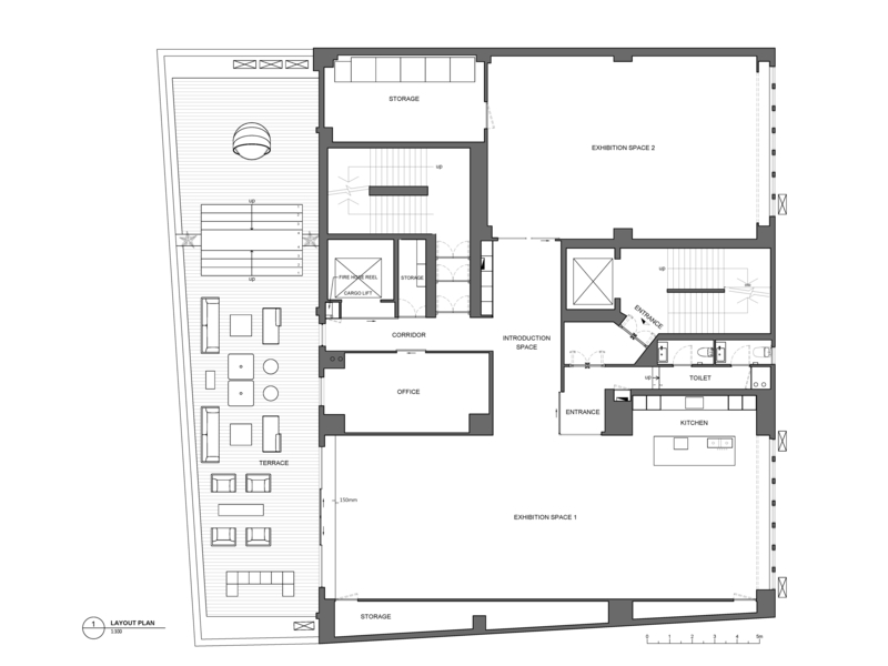 space 27 art exhibition and event space floor plan