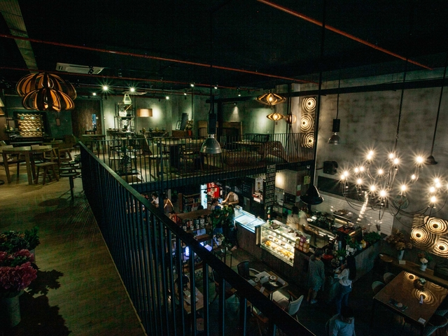 second floor view for artistic cafe